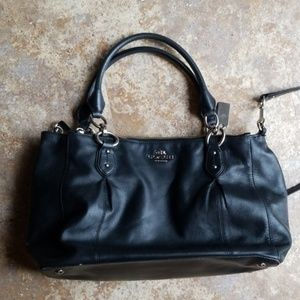 Coach Bags - Coach Satchel Crossbody Black 3 Zipper Compartment